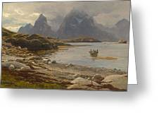 Eckenbrecher, Karl Paul Themistokles Von Athens 1842 - 1921 Goslar Norwegian Fjord Greeting Card