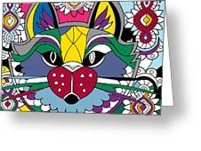 Eclectic Cat Greeting Card