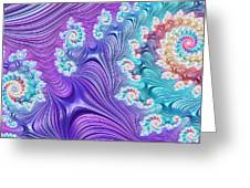Eclectic Ripples Greeting Card