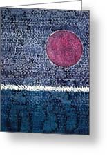 Eclipse Original Painting Greeting Card