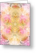 Eco Print Rose Mandala Greeting Card