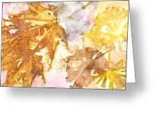 Eco Print 010b Greeting Card