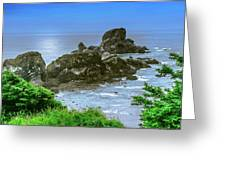 Ecola State Park Oregon 2 Greeting Card by Shiela Kowing