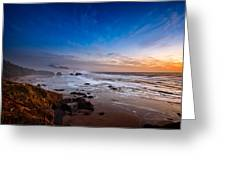 Ecola State Park At Sunset Greeting Card