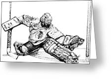 Ed Belfour Greeting Card by Steve Benton