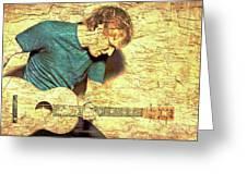 Ed Sheeran And Guitar Greeting Card