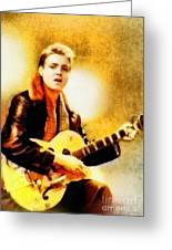 Eddie Cochran, Music Legend By John Springfield Greeting Card