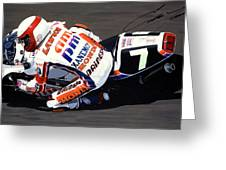 Eddie Lawson - Suzuka 8 Hours Greeting Card