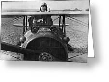 Eddie Rickenbacker - World War One - 1918 Greeting Card