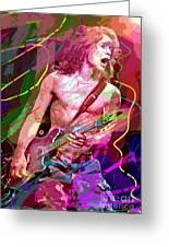 Eddie Van Halen Jump Greeting Card by David Lloyd Glover