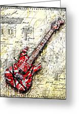 Eddie's Guitar 3 Greeting Card