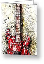 Eddie's Guitar Vert 1a Greeting Card