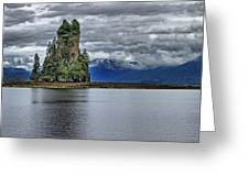 Eddystone Rock In Misty Fjords National Monument Greeting Card