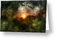 Edens Sunrise Greeting Card