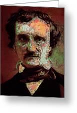 Edgar Allan Poe Artsy 2 Greeting Card