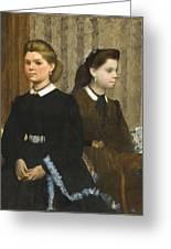 Edgar Degas - The Bellelli Sisters Giovanna And Giuliana Bellelli Greeting Card