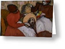 Edgar Degas - The Milliners - 1898 Greeting Card