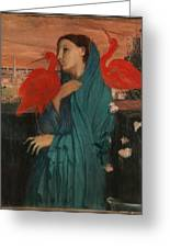 Edgar Degas - Young Woman With Ibis - 1860-1862 Greeting Card