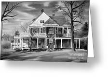 Edgar Home Bw Greeting Card by Kip DeVore