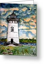 Edgartown Lighthouse Martha's Vineyard Mass Greeting Card