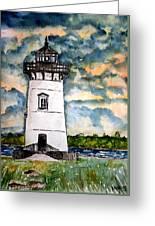 Edgartown Lighthouse Martha's Vineyard Mass Greeting Card
