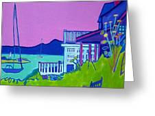 Edgartown Porches Greeting Card