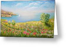 Edge Of The Cliffs By The Sea Greeting Card
