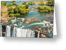 Edge Of The Falls Greeting Card