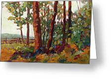 Edge Of The Field Greeting Card