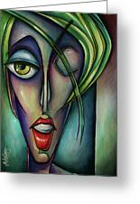 Edgey Greeting Card by Michael Lang