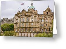 Edinburgh Bank Of Scotland Building Greeting Card