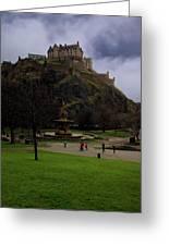 Edinburgh Castle Greeting Card by Jeff Stein
