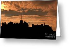 Edinburgh Castle Silhouette  Greeting Card