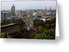 Edinburgh Princess Street Greeting Card