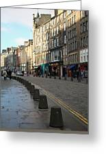 Edinburgh Royal Mile Street Greeting Card