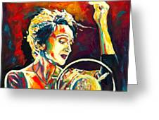 Edith Piaf- La Mome Greeting Card by Vel Verrept