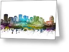 Edmonton Cityscape 01 Greeting Card