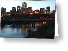 Edmonton Skyline Greeting Card