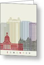 Edmonton Skyline Poster Greeting Card