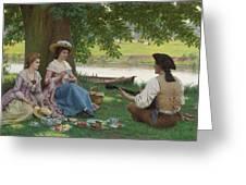 Edmund Blair Leighton 1852-1922 A Picnic Party Greeting Card