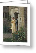 Edmund Blair Leighton 1852-1922 The Request Greeting Card