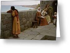 Edmund Blair Leighton - The Hostage 1912 Greeting Card