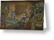 Edouard Vuillard  Sewing Party At Loctudy Greeting Card