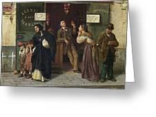 Eduardo Matania, Beim Pfandleiher 1870s Greeting Card