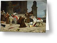 Eduardo Zamacois Y Zabala , Returning To The Monastery 1868 Greeting Card