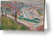 Edvard Munch , Landscape, Kragero Greeting Card
