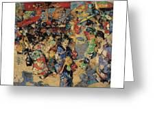 Edward Atkinson Hornel 1864 - 1933 Carnival Day, Japan Greeting Card