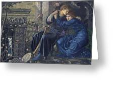 Edward Burne-jones, Love Among The Ruins, 1894 Greeting Card