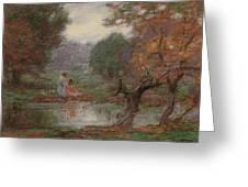 Edward Henry Potthast 1857 - 1927 October Days Greeting Card