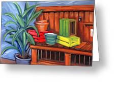 Edwards Nursery Potting Bench Greeting Card